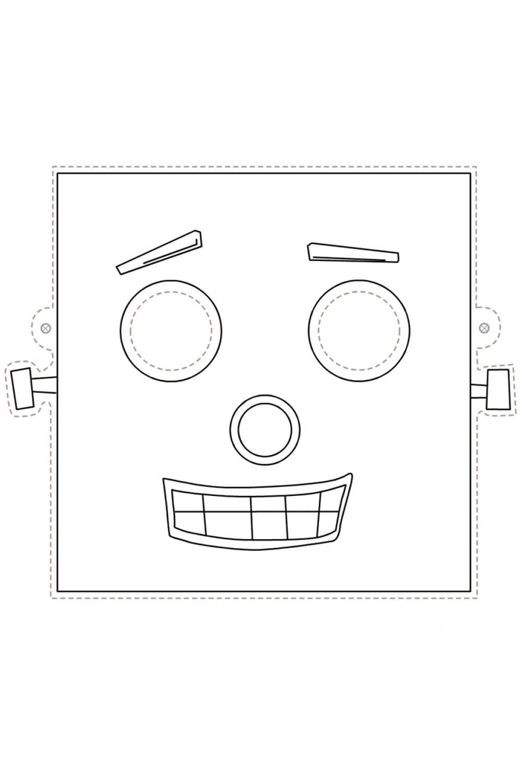 Раскраска Маска робот