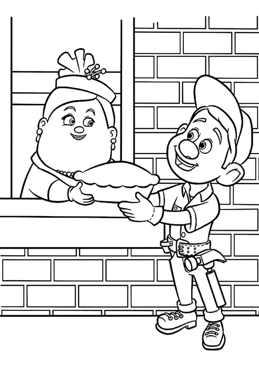 Раскраска Мастер Феликс-младший и Мэри