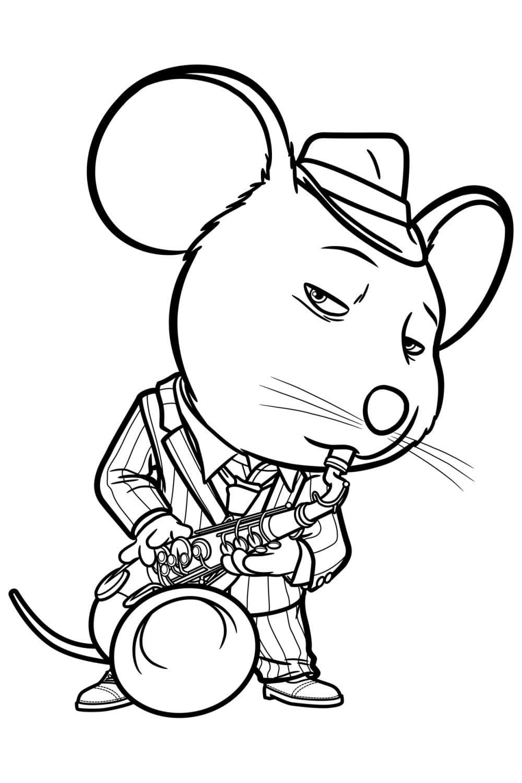Раскраска Майк мышонок