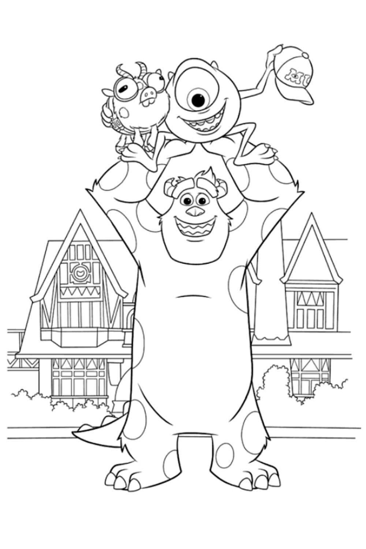 Раскраска Раскраски Университета монстров