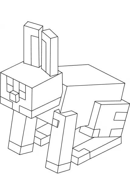 Раскраска Майнкрафт Кролик