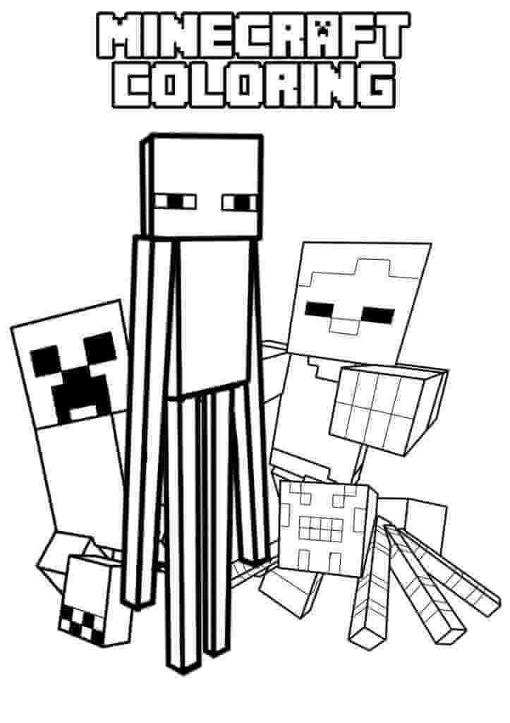 Раскраска Раскраска майнкрафт (Minecraft)