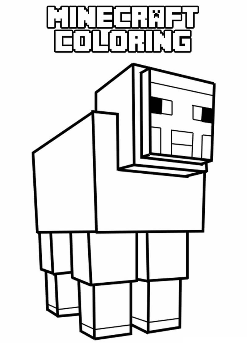 Раскраска майнкрафт овца
