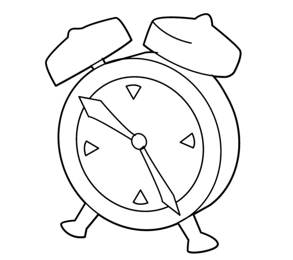 Раскраска Механический будильник