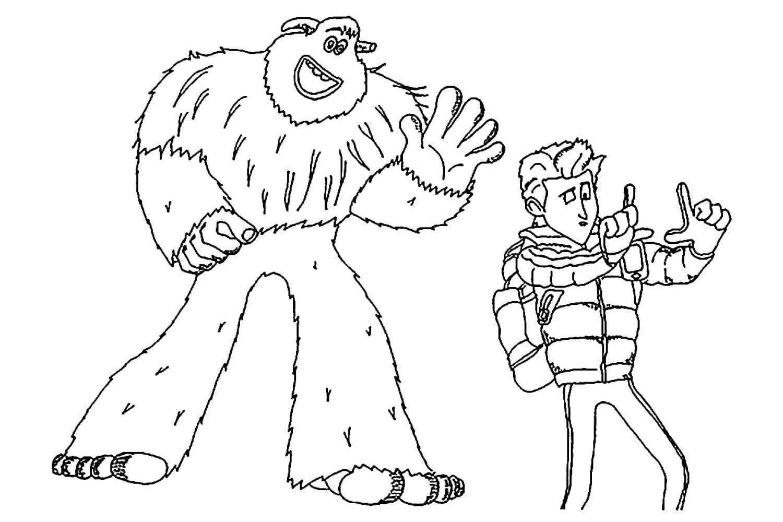 Раскраска Миго встретил Перси