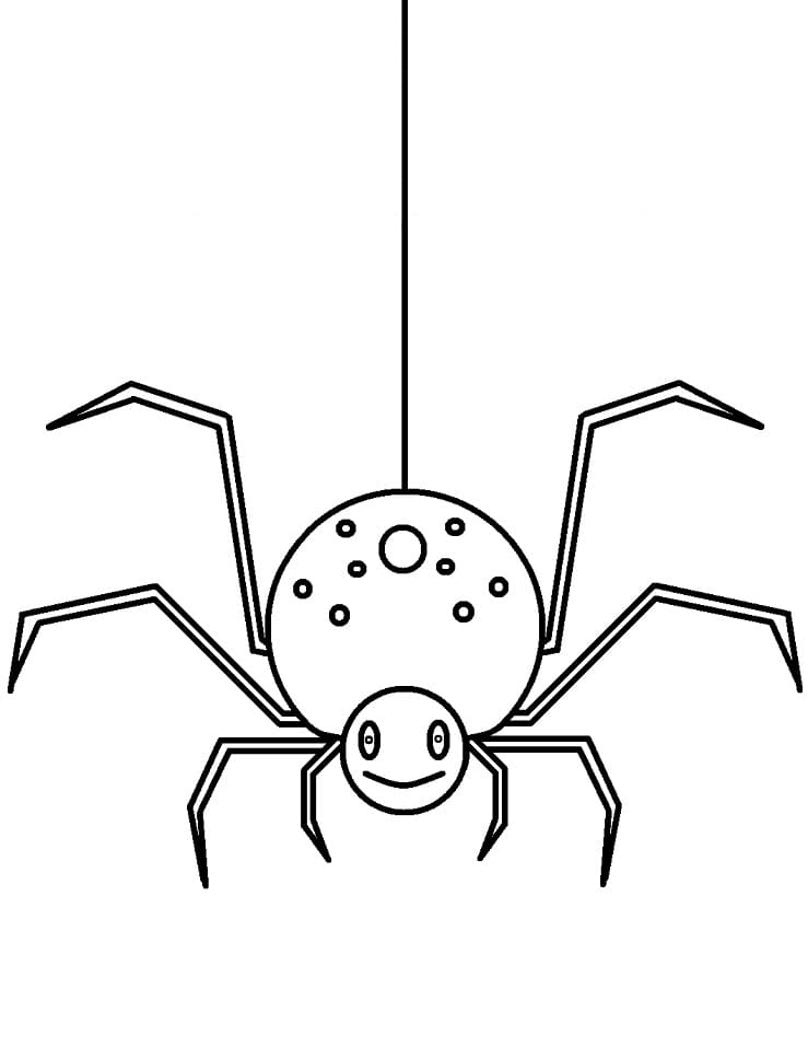 Раскраска Милый паук 1
