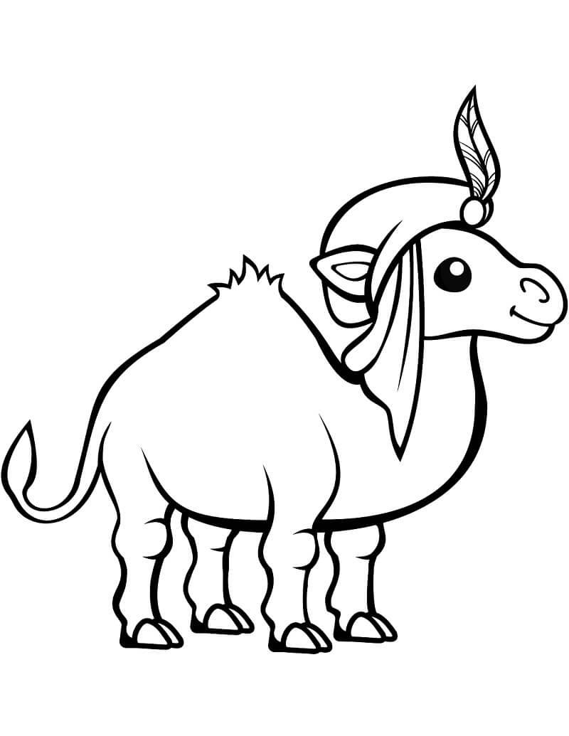 Раскраска милый верблюд