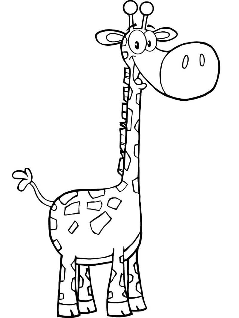 Раскраска милый жираф