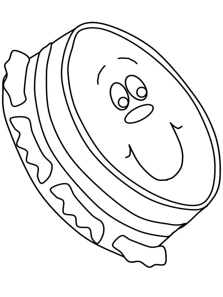 Раскраска мультфильм бубен 2