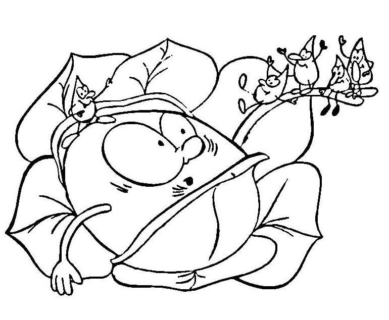 Раскраска мультфильм Капуста 2