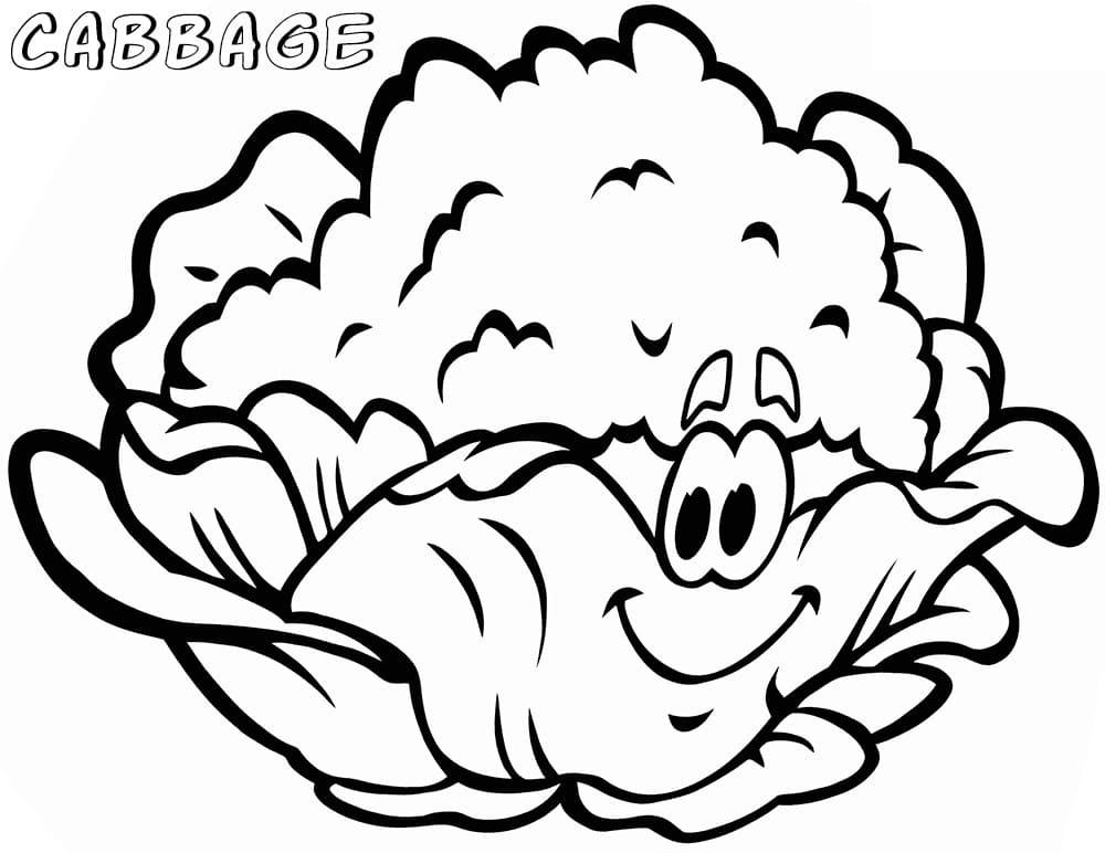 Раскраска мультфильм Капуста 3