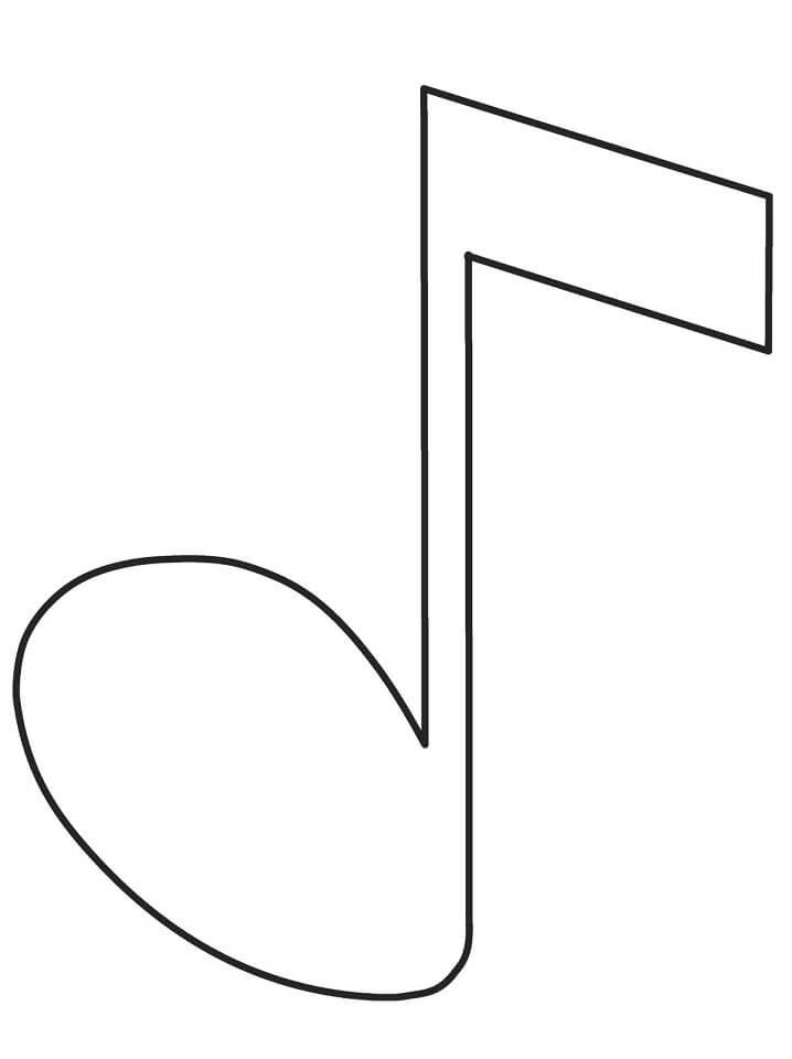 Раскраска музыкальная нота 3