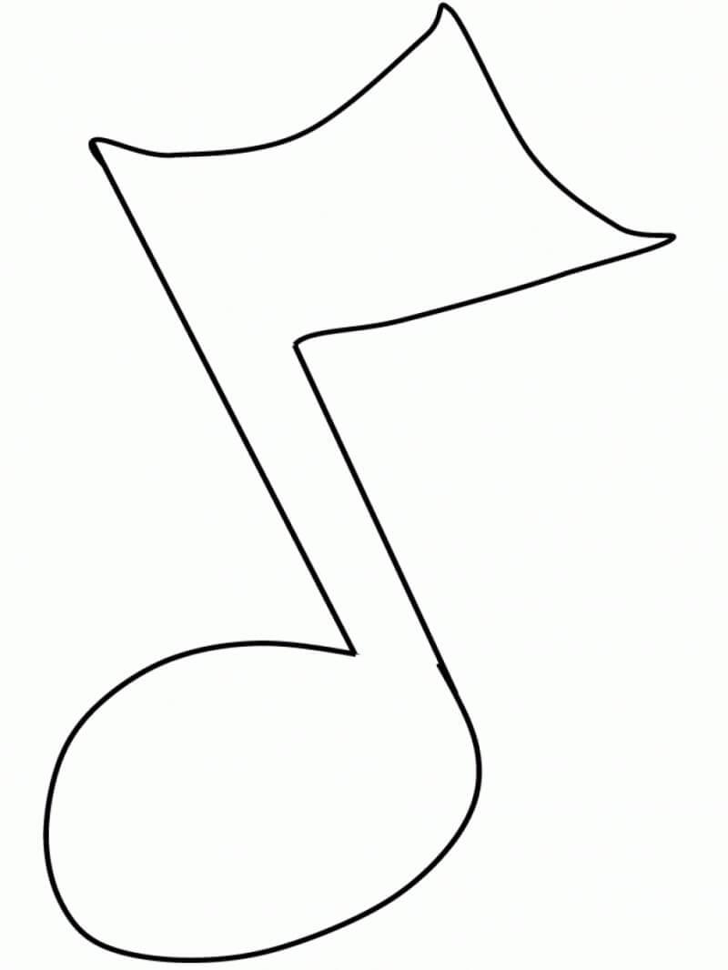 Раскраска музыкальная нота 5