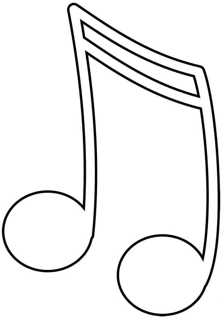Раскраска музыкальная нота