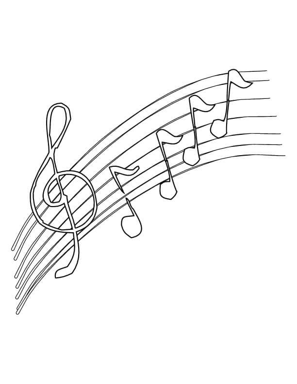 Раскраска музыкальных нот 2