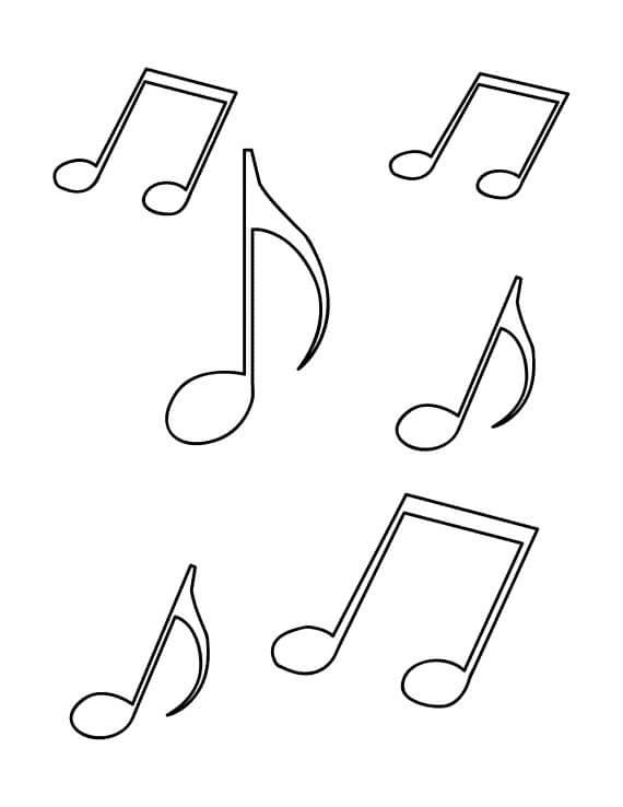 Раскраска музыкальных нот 3
