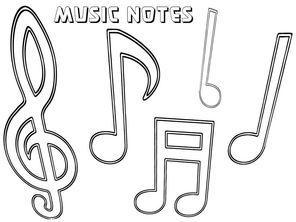 Раскраска музыкальных нот 7
