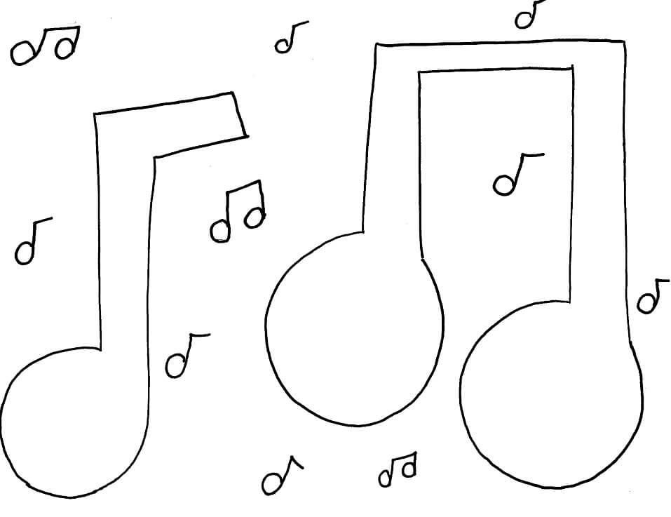 Раскраска музыкальных нот