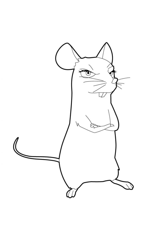 Раскраска Мышь Мэгги