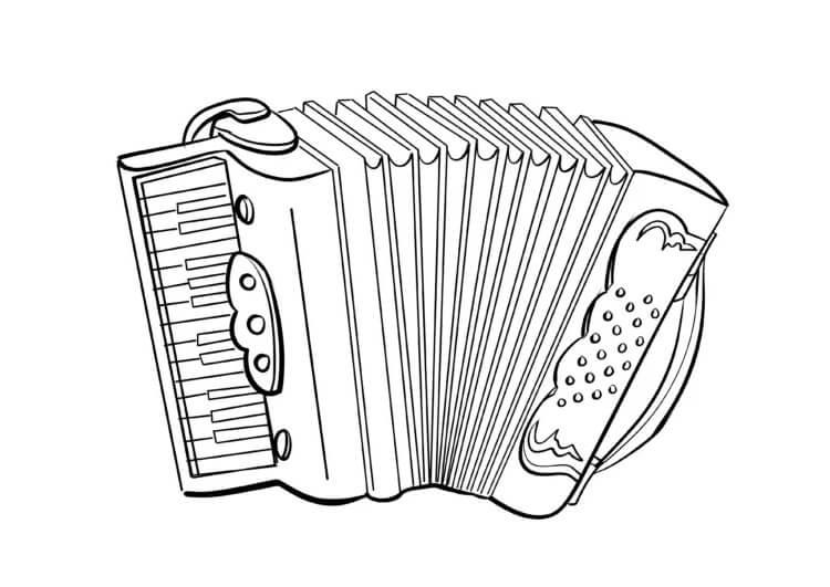 Раскраска нормальный аккордеон 1