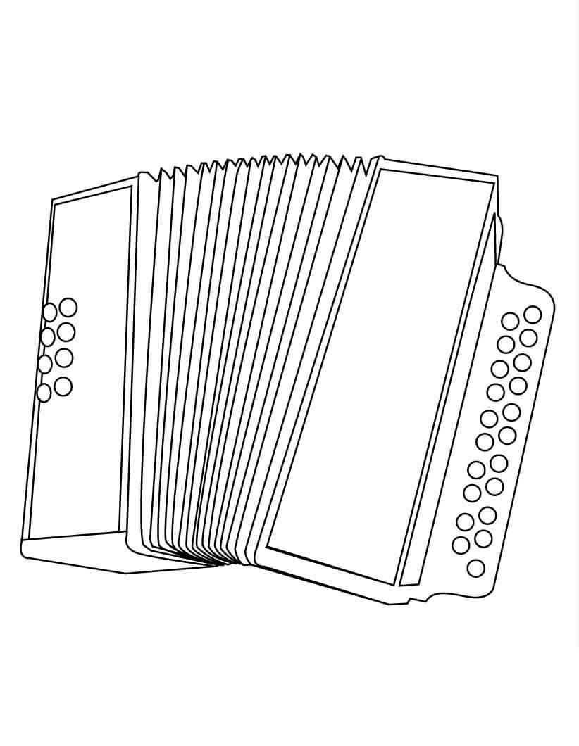 Раскраска нормальный аккордеон 2