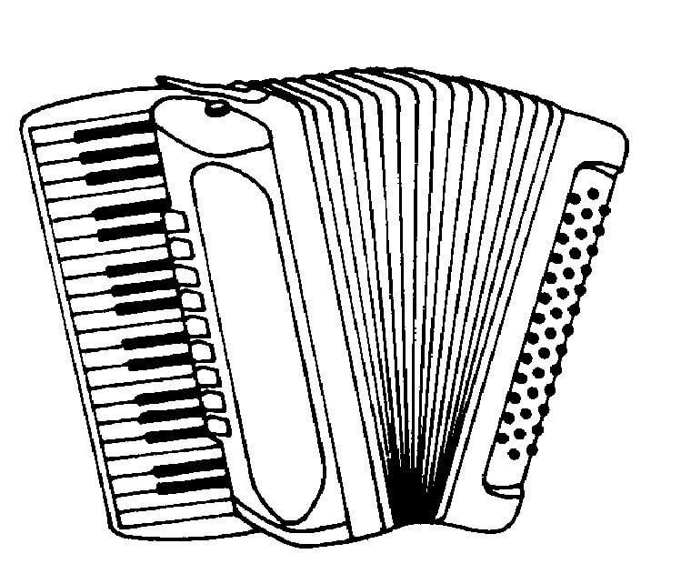 Раскраска нормальный аккордеон 3