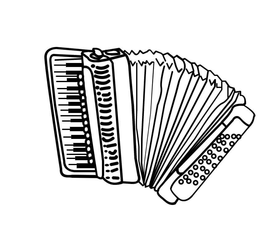 Раскраска нормальный аккордеон 6