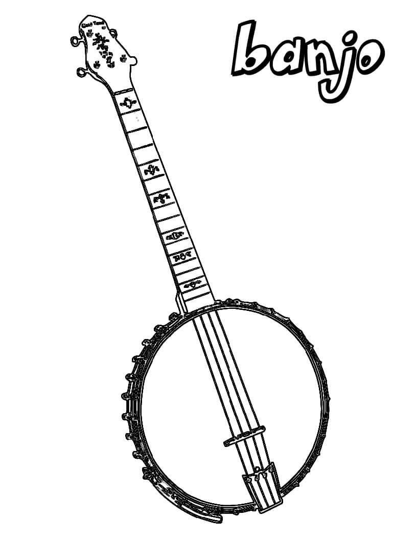 Раскраска Раскраски Банджо
