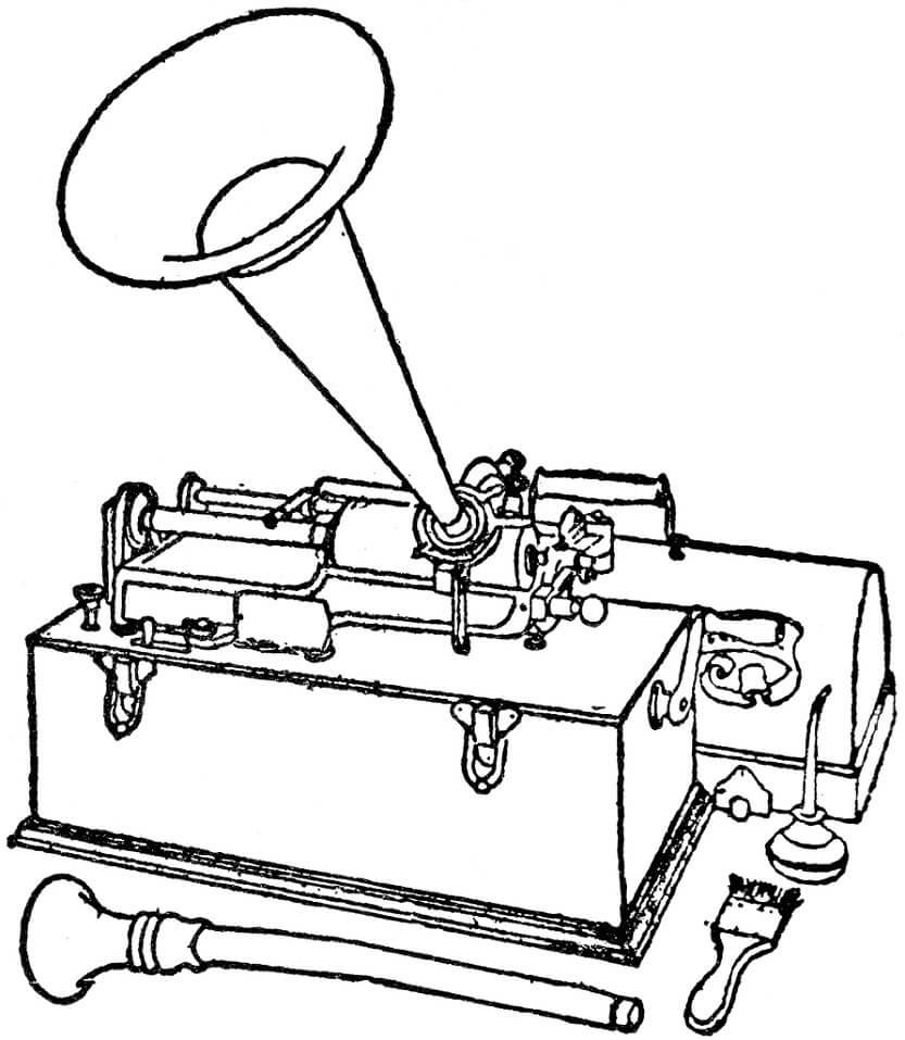 Раскраска нормальный фонограф 2