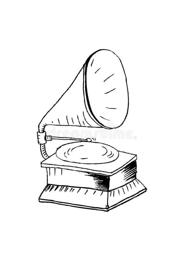 Раскраска Раскраски фонограф