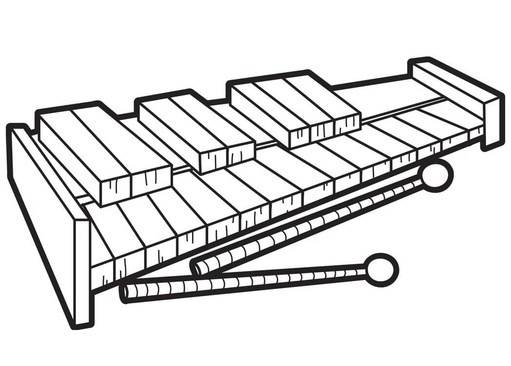 Раскраска raskraska normal'nyy ksilofon 1