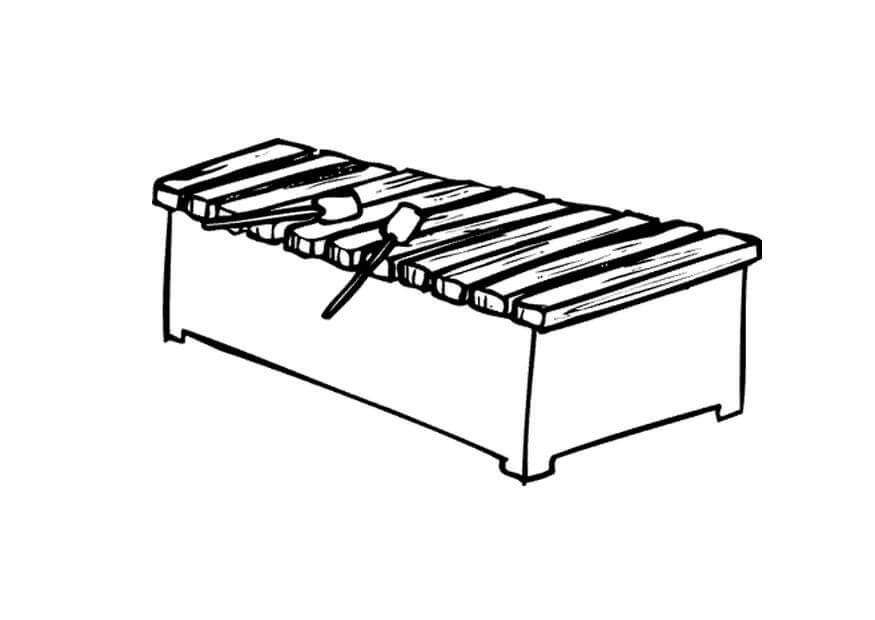 Раскраска raskraska normal'nyy ksilofon 2