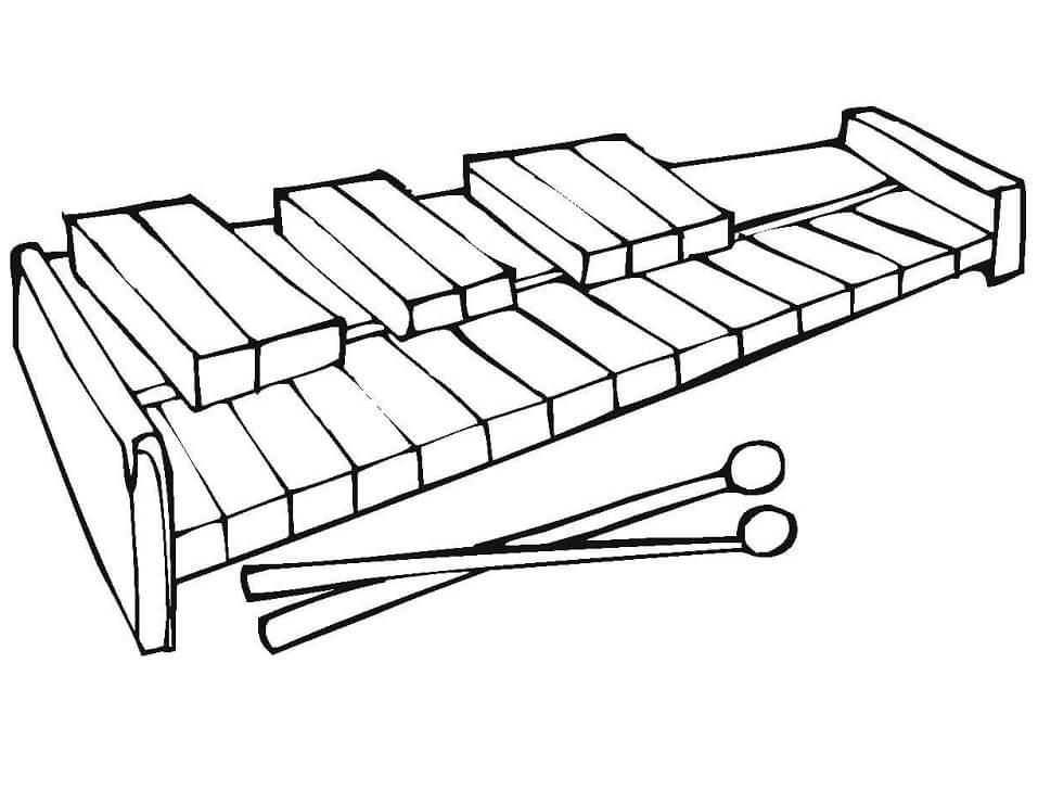 Раскраска raskraska normal'nyy ksilofon 3
