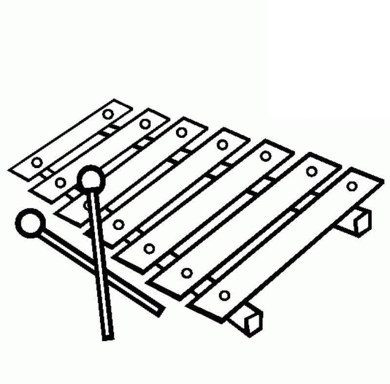 Раскраска raskraska normal'nyy ksilofon 4