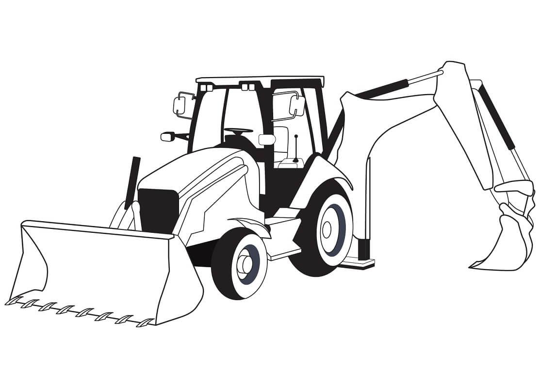 Раскраска нормальный трактор 1