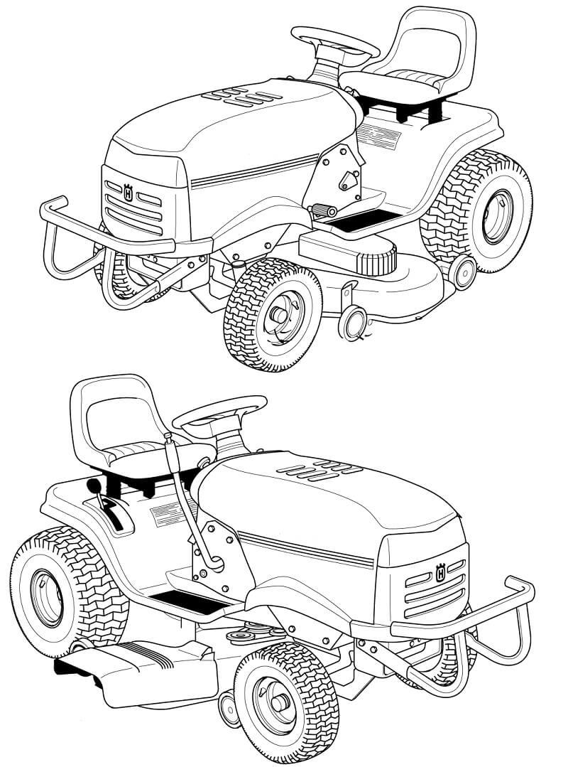 Раскраска нормальный трактор 2