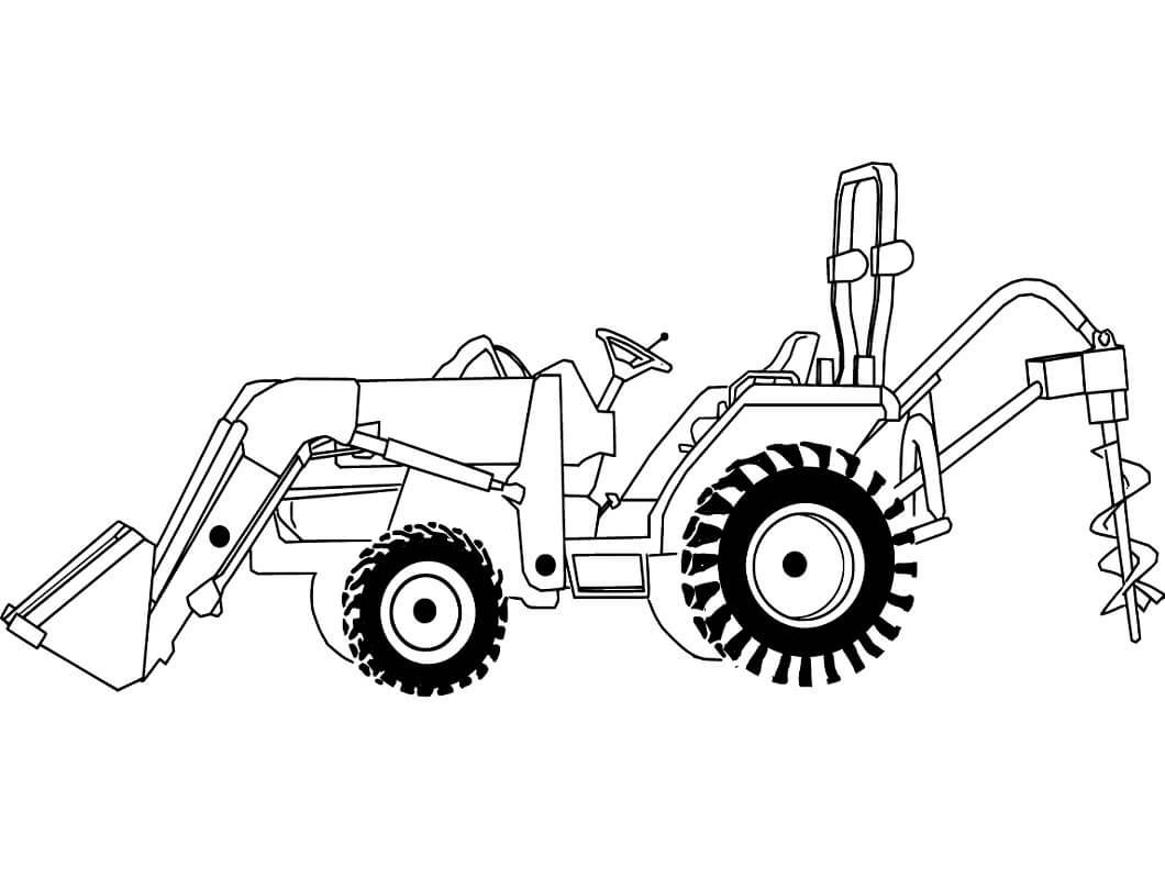 Раскраска нормальный трактор 3