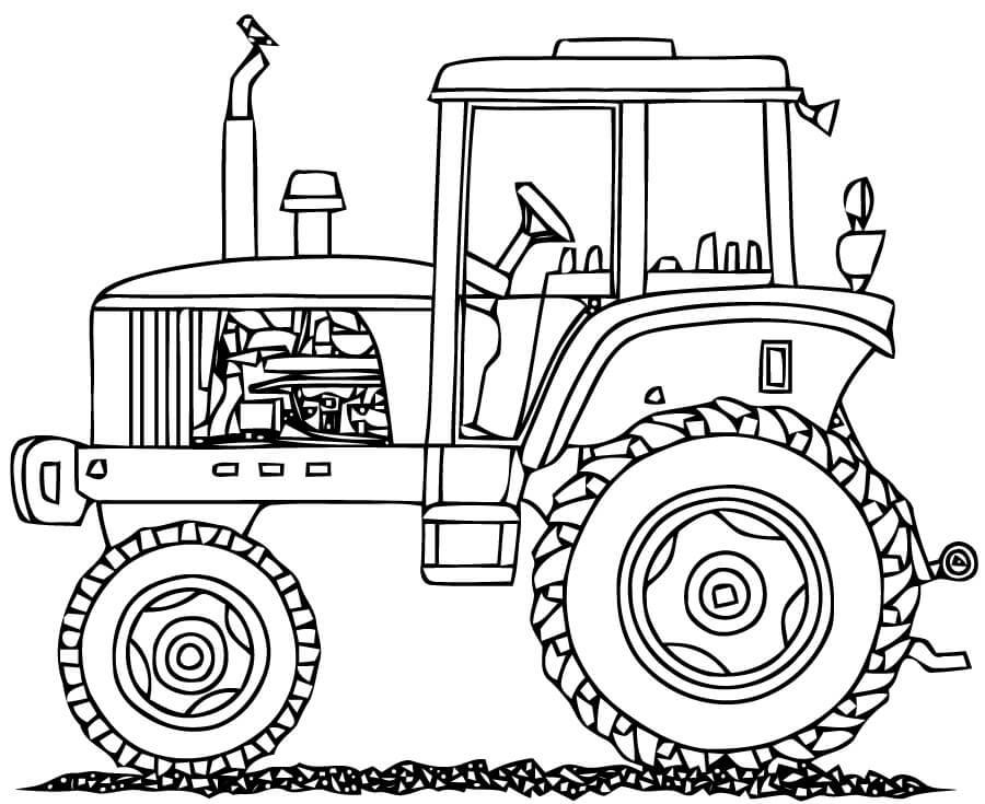 Раскраска нормальный трактор 4