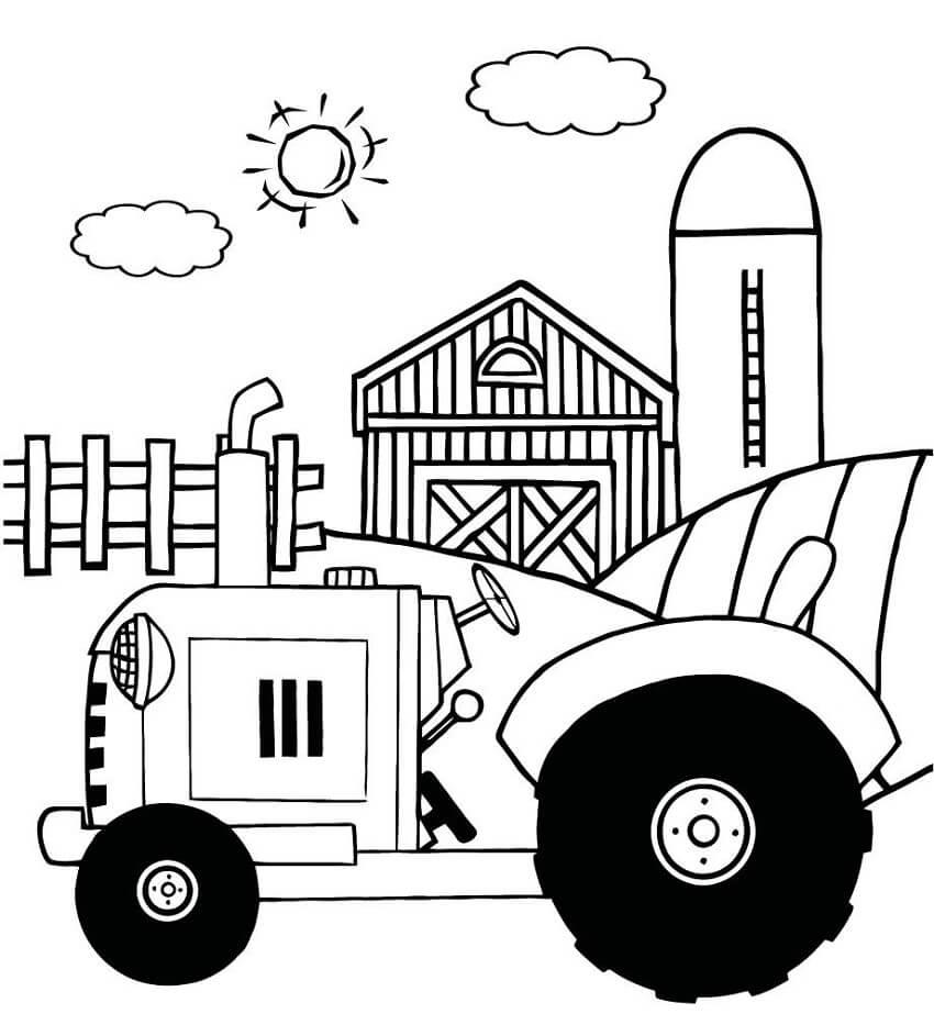 Раскраска нормальный трактор 5
