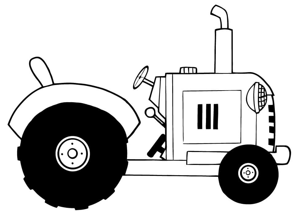 Раскраска нормальный трактор 6