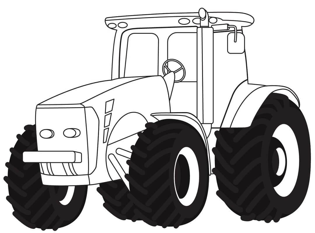 Раскраска нормальный трактор