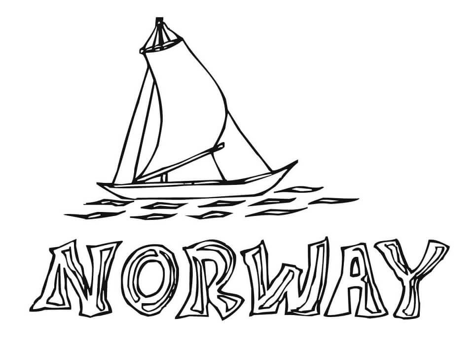 Раскраска Раскраски Норвегия