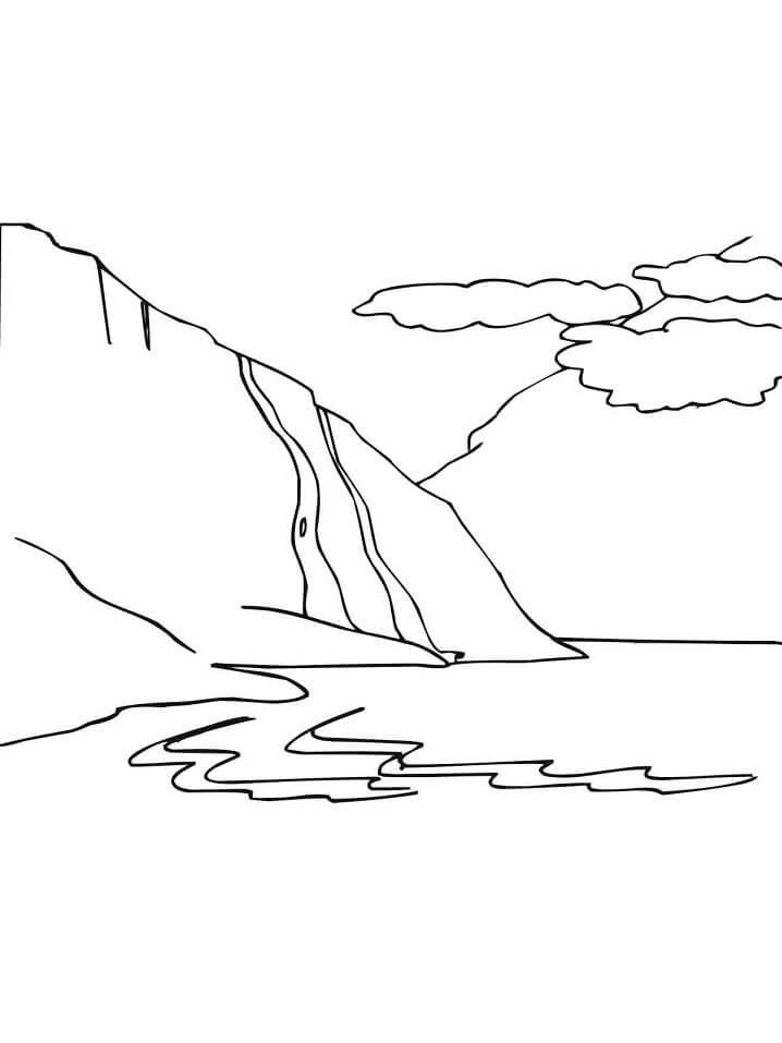 Раскраска Норвужский Фьорд
