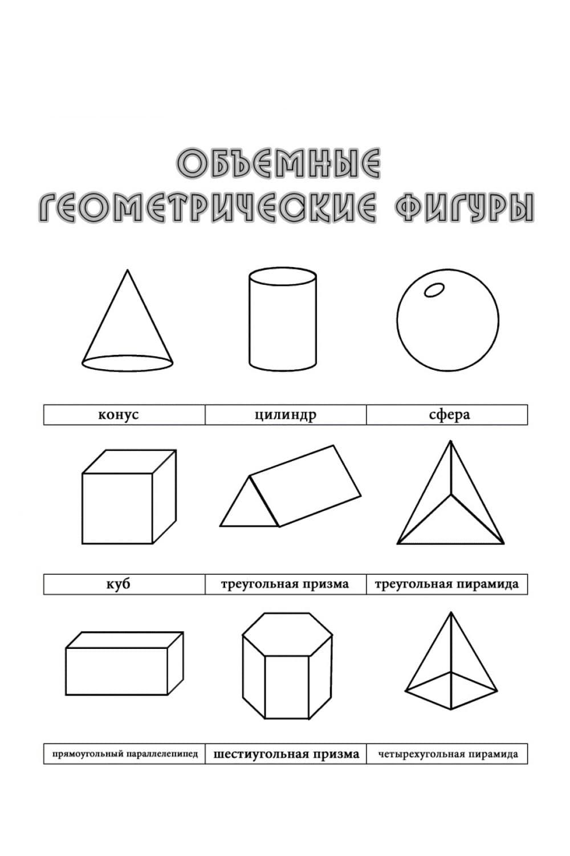 Раскраска Раскраски геометрические фигуры