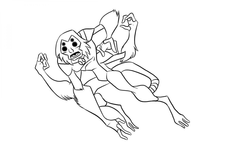 Раскраска Обезьяна-паук