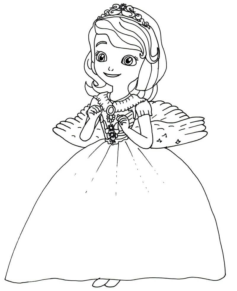 Раскраска очаровательная софия 2