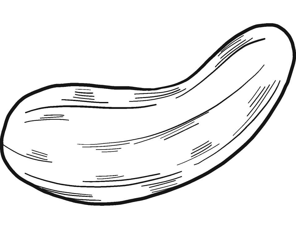 Раскраска Огурец 1