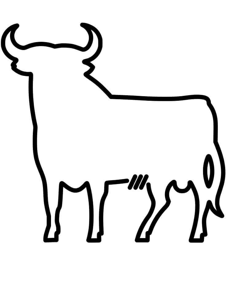Раскраска Осборнский бык