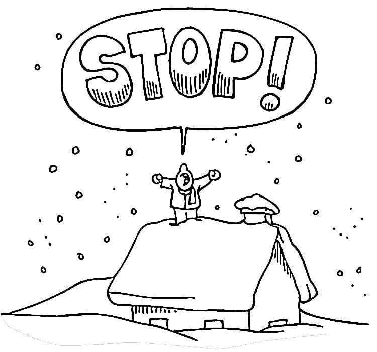 Раскраска Остановите зиму!