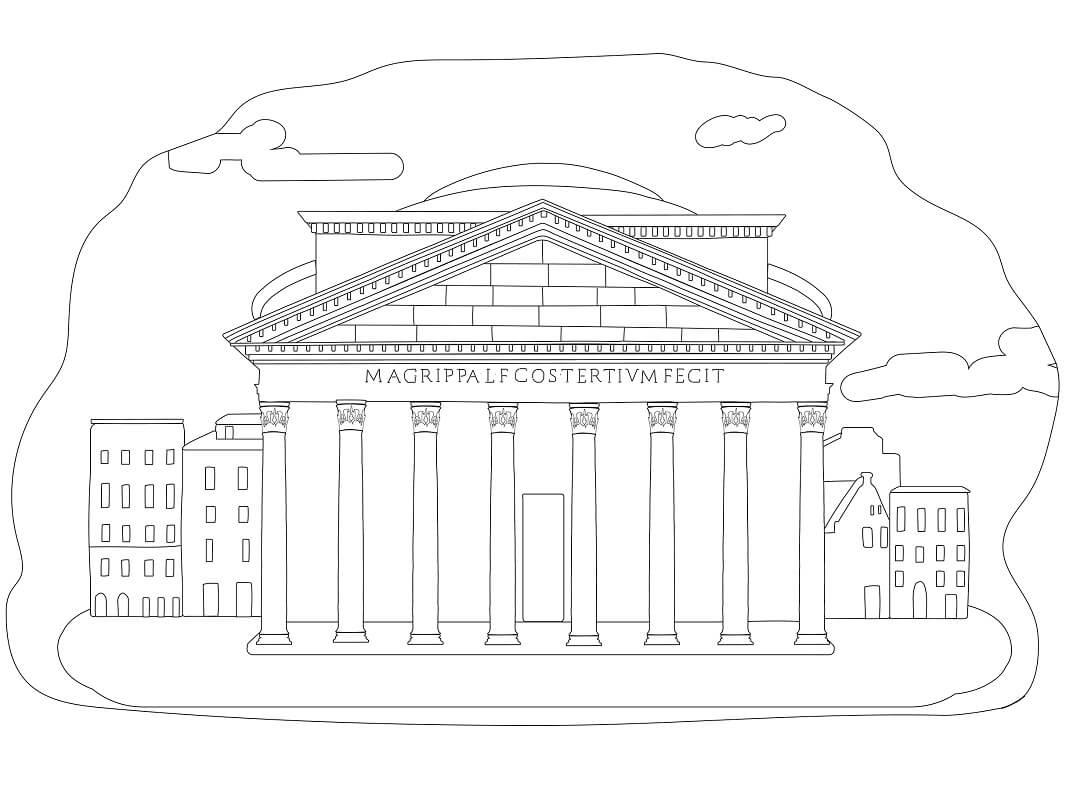 Раскраска Пантеон